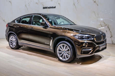 FRANKFURT - SEPT 2015: BMW X6 xDrive40d presented at IAA International Motor Show on September 20, 2015 in Frankfurt, Germany