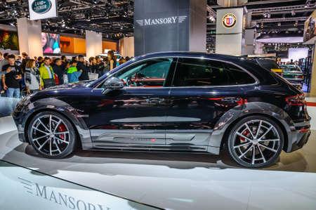 iaa: FRANKFURT - SEPT 2015: Porsche Macan Mansory presented at IAA International Motor Show on September 20, 2015 in Frankfurt, Germany Editorial