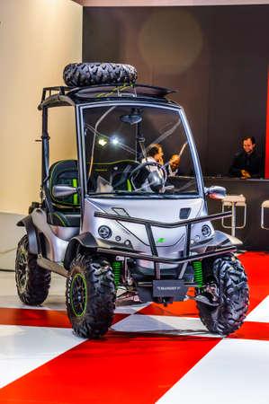 iaa: FRANKFURT - SEPT 2015: golf buggy mansory presented at IAA International Motor Show on September 20, 2015 in Frankfurt, Germany