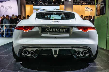 motorshow: FRANKFURT - SEPT 2015: Jaguar F-Type Startech presented at IAA International Motor Show on September 20, 2015 in Frankfurt, Germany Editorial