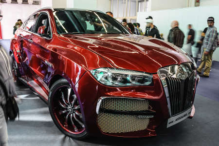 ag: FRANKFURT - SEPT 2015: BMW X6 AG Excalibur Alligator  presented at IAA International Motor Show on September 20, 2015 in Frankfurt, Germany