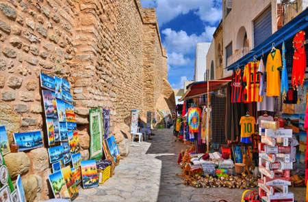 HAMMAMET, TUNISIA - OCT 2014: Bazaar Market Fair on October 6, 2014 in Hammamet, Tunisia