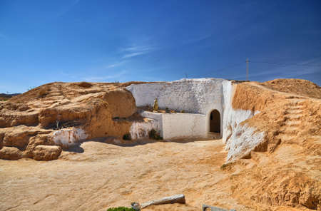berber: Traditional berber house near Matmata in Sahara Desert, Tunisia, Africa, HDR Stock Photo