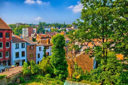 liege: Brick houses in Liege, Belgium, Benelux, HDR