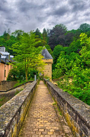 benelux: Old stone bridge in Luxembourg, Benelux, HDR