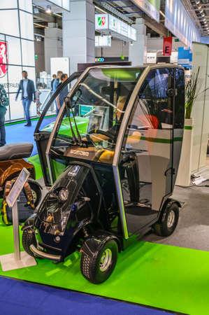 prototype: FRANKFURT - SEPT 2015: electric car NEXXT prototype presented at IAA International Motor Show on September 20, 2015 in Frankfurt, Germany