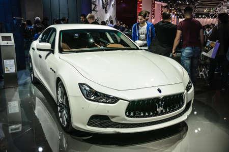iaa: FRANKFURT - SEPT 2015: Maserati Ghibli presented at IAA International Motor Show on September 20, 2015 in Frankfurt, Germany