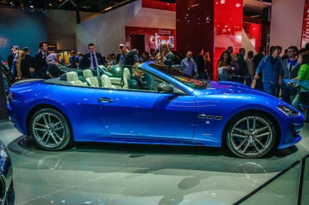 centennial: FRANKFURT - SEPT 2015: Maserati GranTurismo MC Centennial Edition Coupe presented at IAA International Motor Show on September 20, 2015 in Frankfurt, Germany Editorial