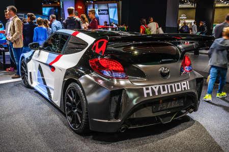 iaa: FRANKFURT - SEPT 2015: Hyundai RM15 presented at IAA International Motor Show on September 20, 2015 in Frankfurt, Germany