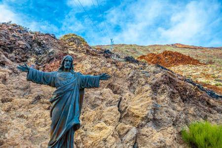 Jesus Christus, der Reedemer Statue in Teneriffa, Kanarische Inseln. Lizenzfreie Bilder