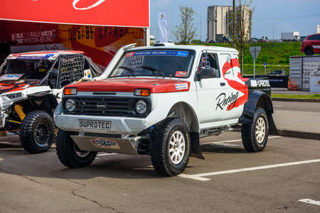 autoshow: MOSCOW - AUG 2016: VAZ-2329 LADA 4x4 Pickup presented at MIAS Moscow International Automobile Salon on August 20, 2016 in Moscow, Russia.