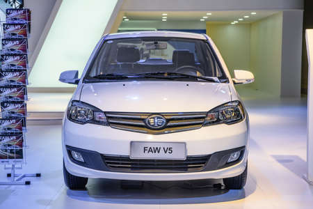 MOSCOW - AUG 2016: FAW V5 presented at MIAS Moscow International Automobile Salon on August 20, 2016 in Moscow, Russia.