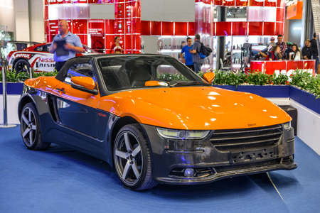 MOSCOW - AUG 2016: BRT Roadster Crimea presented at MIAS Moscow International Automobile Salon on August 20, 2016 in Moscow, Russia. Editorial