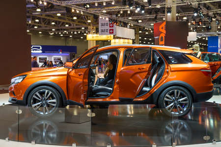 MOSCOW - AUG 2016: VAZ LADA XRay Cross Concept presented at MIAS Moscow International Automobile Salon on August 20, 2016 in Moscow, Russia.
