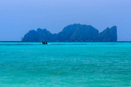 Phi Phi Leh islands in azure Andaman sea, Krabi Thailand