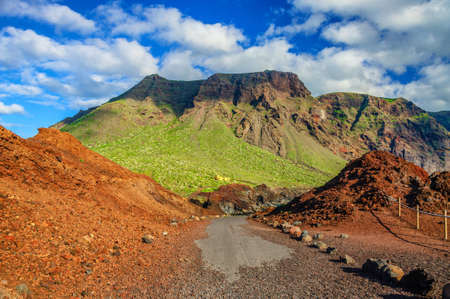 Mountains near Punto Teno Lighthouse in north-west coast of Tenerife, Canarian Islands Stok Fotoğraf