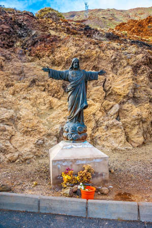 Jesus Christ the Reedemer statue in Tenerife, Canary Islands. Stok Fotoğraf