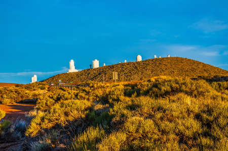 Space observatory on the mountain in Tenerife, Canary Islands. Stok Fotoğraf