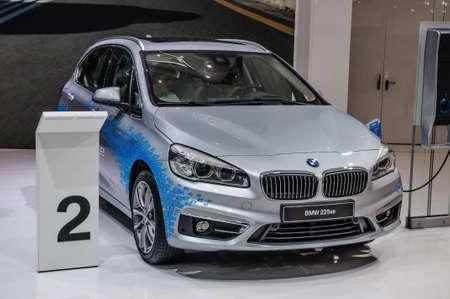 FRANKFURT - SEPT 2015: BMW 225xe presented at IAA International Motor Show on September 20, 2015 in Frankfurt, Germany