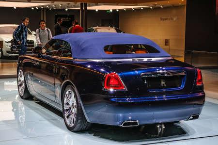FRANKFURT - SEPT 2015: Rolls-Royce Phantom Coupe presented at IAA International Motor Show on September 20, 2015 in Frankfurt, Germany