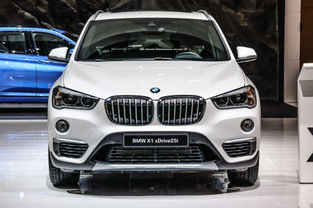 FRANKFURT - SEPT 2015: BMW X1 xDrive25i presented at IAA International Motor Show on September 20, 2015 in Frankfurt, Germany Stok Fotoğraf - 128619888