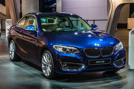 FRANKFURT - SEPT 2015: BMW 228i presented at IAA International Motor Show on September 20, 2015 in Frankfurt, Germany Stok Fotoğraf - 128619889