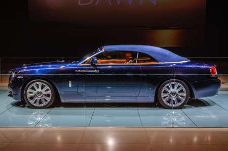 FRANKFURT - SEPT 2015: Rolls-Royce Phantom Coupe presented at IAA International Motor Show on September 20, 2015 in Frankfurt, Germany Stok Fotoğraf - 128619890
