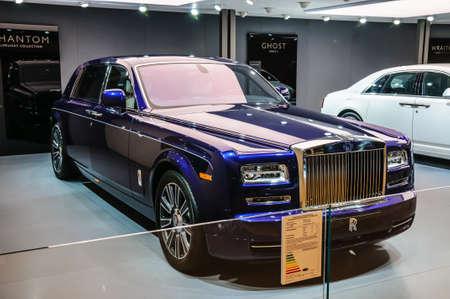 FRANKFURT - SEPT 2015: Rolls-Royce Phantom presented at IAA International Motor Show on September 20, 2015 in Frankfurt, Germany