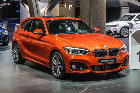 FRANKFURT - SEPT 2015: BMW 120d xDrive presented at IAA International Motor Show on September 20, 2015 in Frankfurt, Germany