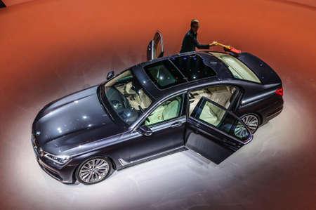 FRANKFURT - SEPT 2015: BMW 750Li xDrive presented at IAA International Motor Show on September 20, 2015 in Frankfurt, Germany