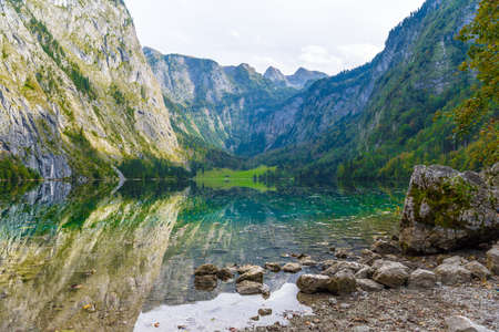 Obersee, Koenigssee, Konigsee Berchtesgaden National Park Bavaria Germany