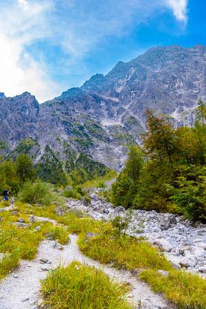 Mountains valley near Koenigssee, Konigsee, Berchtesgaden National Park, Bavaria Germany