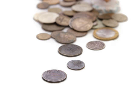 old coins: many old coins