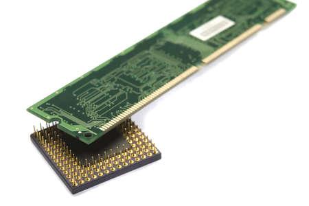 Foto de procesador y memoria de la placa Foto de archivo - 671874