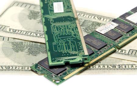 Foto de la placa de la memoria sobre dólares Foto de archivo - 680529