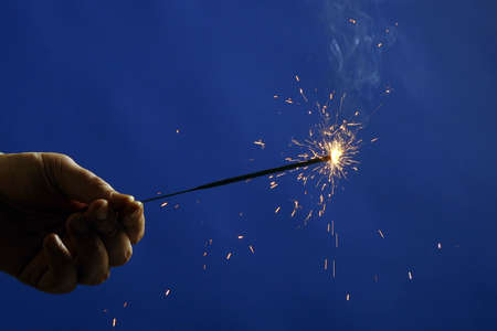 seaonal: Photo of sparkler in hand