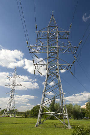 a photo of high-power lines  photo
