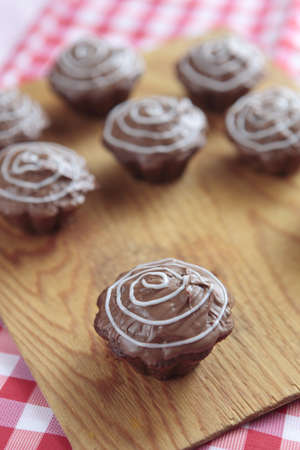 a photo of chocolate cupcakes Stock Photo - 9354230