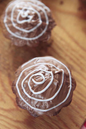 a photo of chocolate cupcakes photo