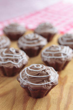 a photo of chocolate cupcakes Stock Photo - 9354208