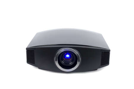 a photo of home cinema projector with space for your text photo