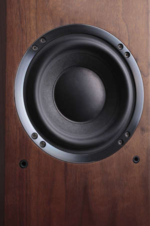a photo of wooden-coloured speaker Stock Photo - 9354235