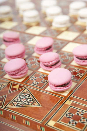 french culture: Macaroon chess - a new game for non-dieting people