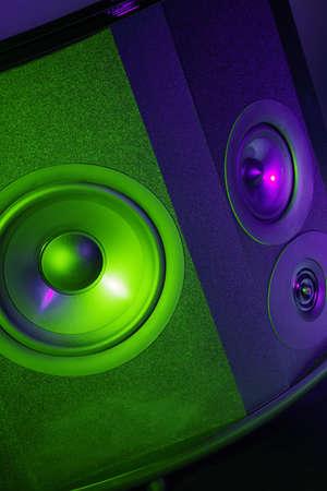 sub woofer:  coloured speaker
