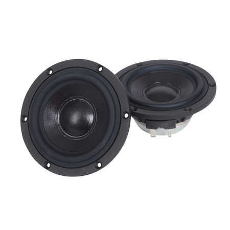 sub woofer: a photo of black speakers isolated on White Stock Photo