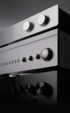s video: a close up photo of three receivers Stock Photo