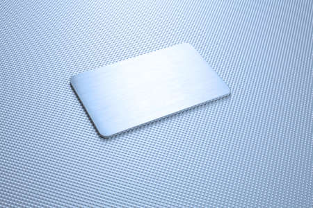 photo of metal texture abstract background with a plate Stock Photo