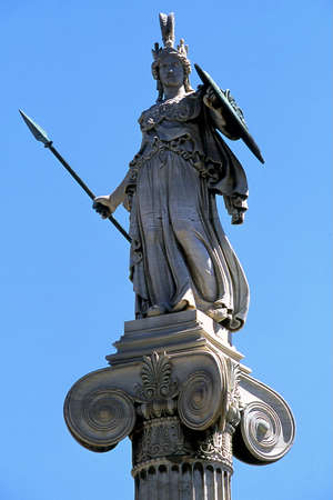 athena: Athens, The statue of Athena near to Academy of Athens