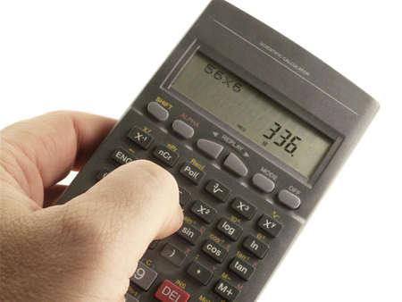 Hand with Scientific Calculator