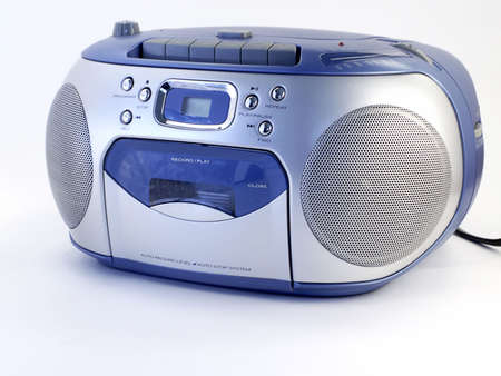 Music boombox  CD and tape player.